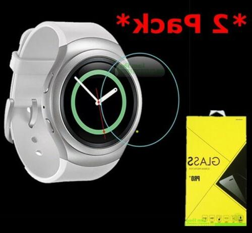 2-Pack Tempered Glass Screen Protector Samsung Gear S2/S2 Cl