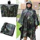 2IN1 Rain Coat Travel Hoodie Waterproof Poncho Hiking Gear S