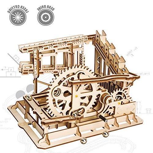 3d wooden puzzle mechanical gears