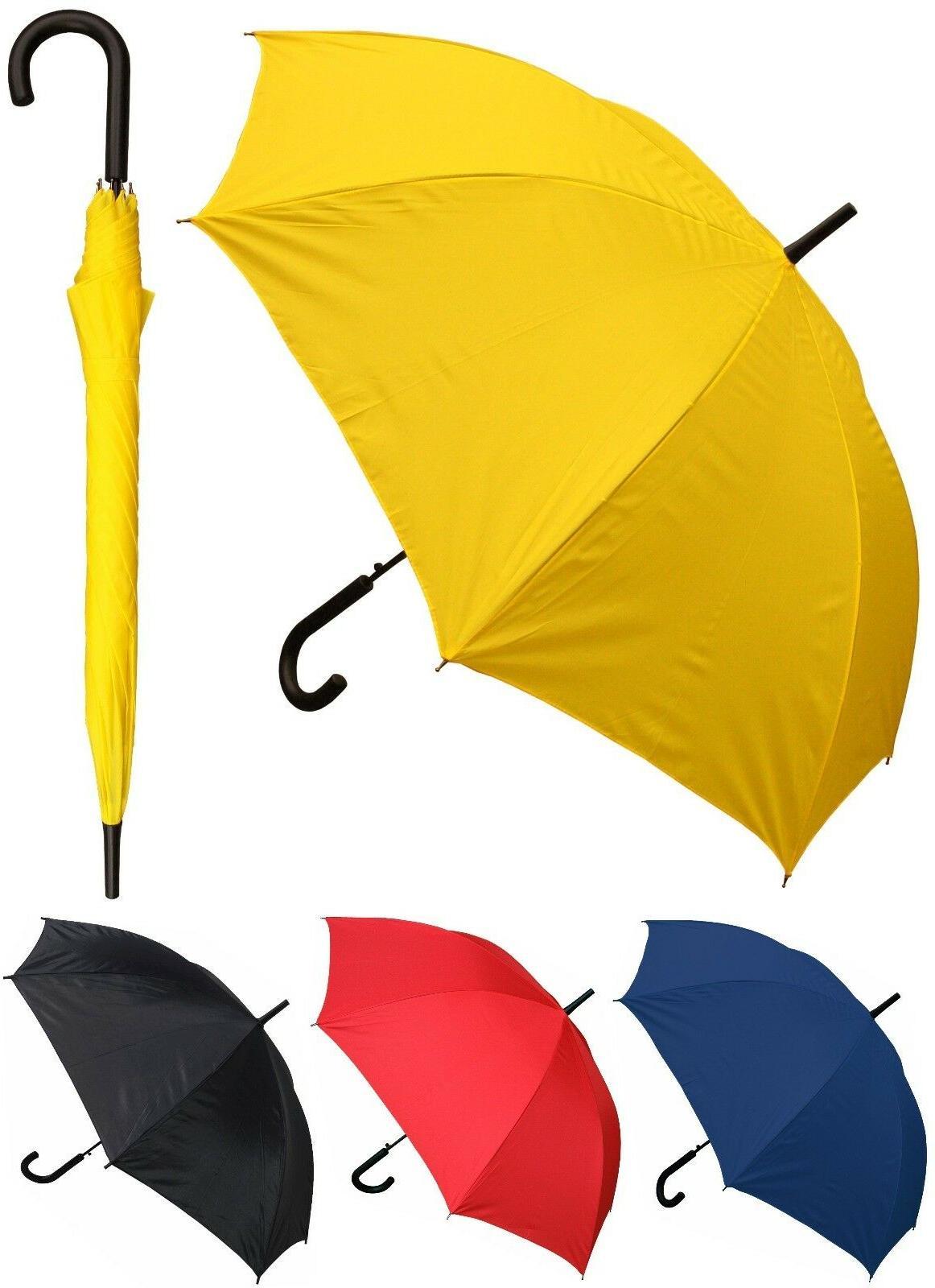 "48""Arc Doorman, Black Handle Umbrella-RainStoppers, Rain/Sun"