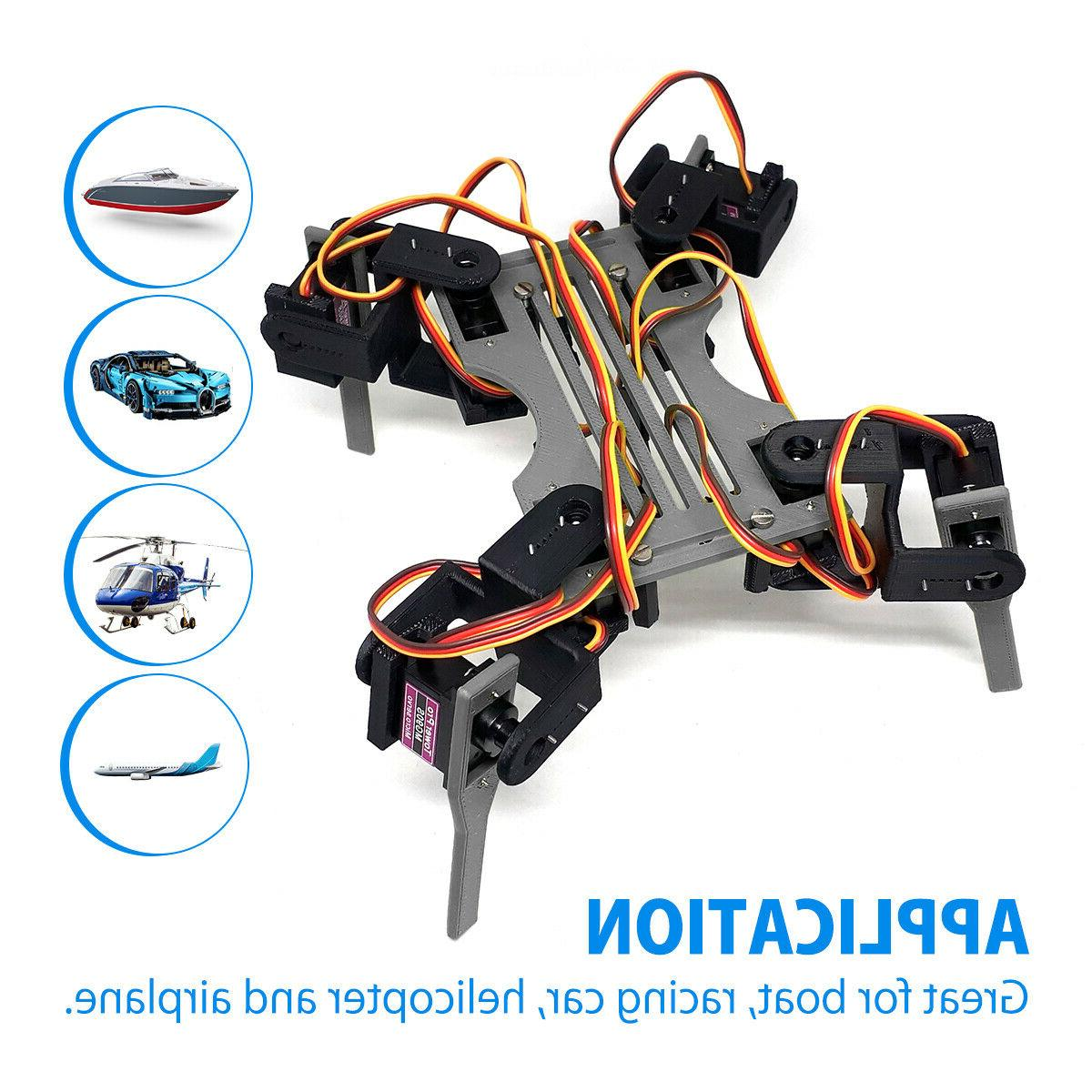4Pack Metal MG90S High Speed RC Car
