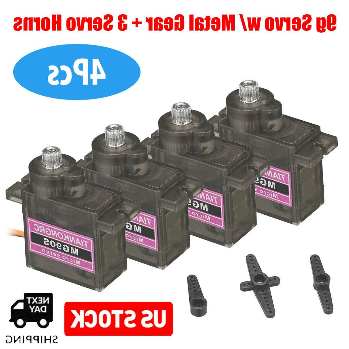 4Pack Gear 9g MG90S Micro High RC Car
