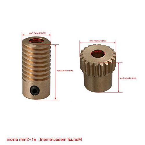 CNBTR 5mm Bore Diameter Shaft with Teeth Worm Wheel Modulus Shaft