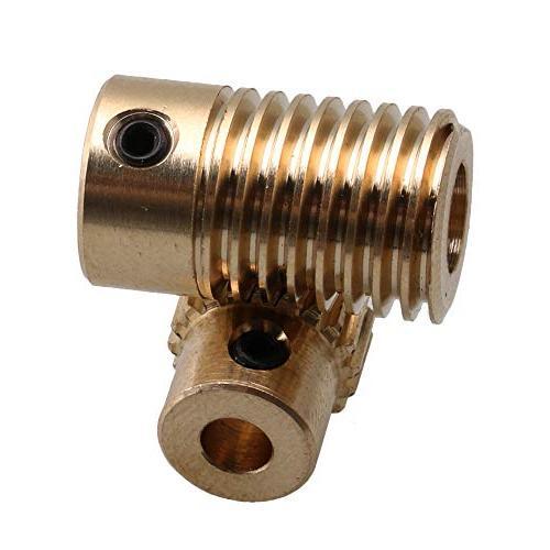 CNBTR Diameter Gear Shaft Worm Wheel 0.5 Set Drive Gear Shaft