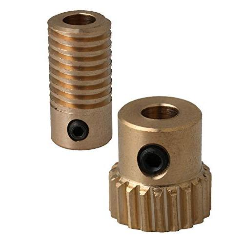5mm bore hole diameter brass worm gear