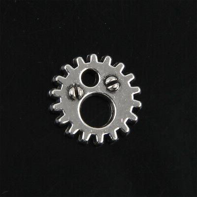 60pcs tibetan silver gear charms pendants