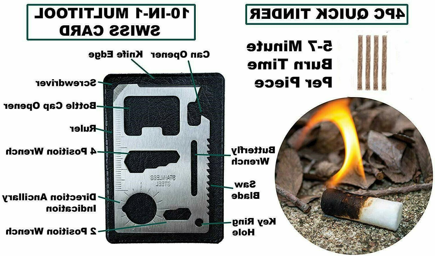 65 in 1 Survival Outdoor Kits EDC Gear Camping Tools