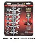 GearWrench 7 Pc. Stubby Combination Ratcheting Wrench Set SA