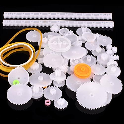 Longruner Plastic Double Reduction Gear Worm Gear Car Motor Robot