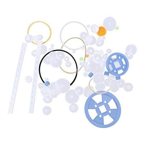 80pcs plastic diy robot gear kit gearbox