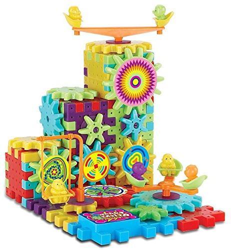 81 Piece Funny Bricks Gear Building Toy Set - Interlocking L