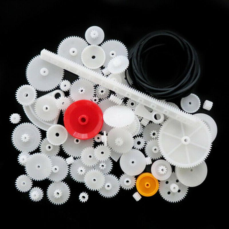 81Pcs Assorted Teeth Plastic Gear Wheel For Toy Car Motor Sh