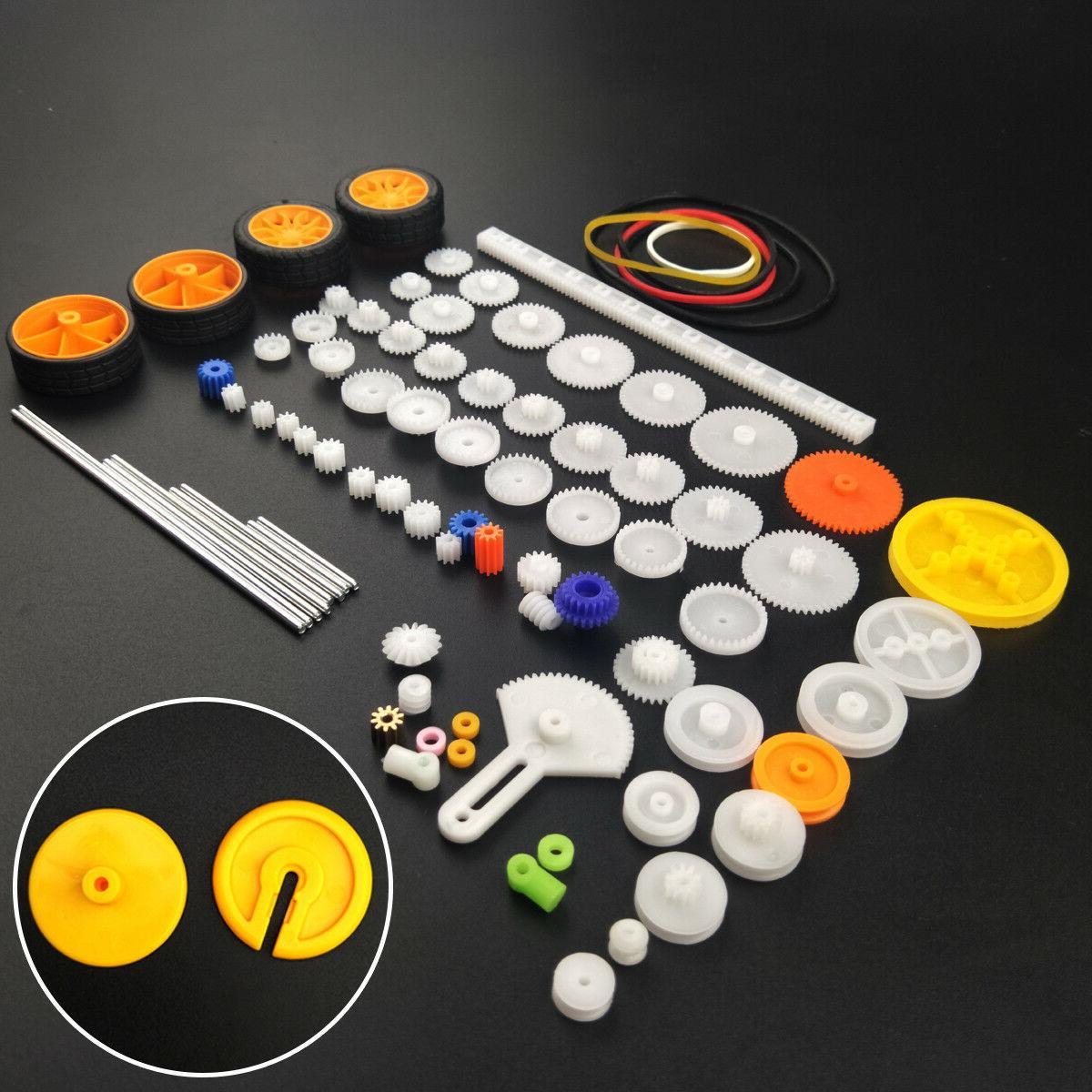 82 pcs plastic gear package kit diy