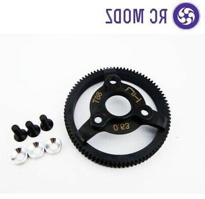 HOT-RACING STE886 Steel 86T 48P Spur Gear Slash Silver