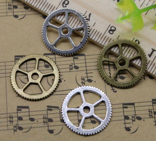 alloy jewelry making diy gear spacing piece