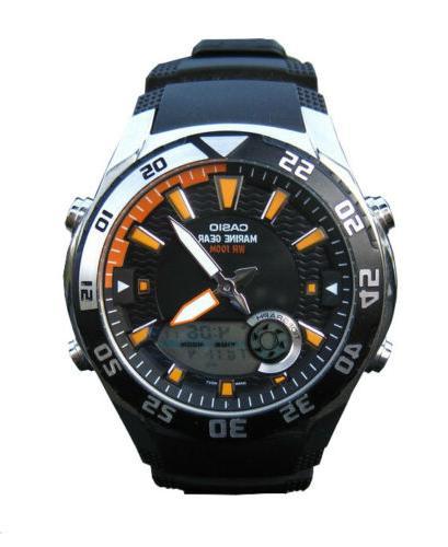Casio Men's AMW710-1AV Black Resin Quartz Watch with Black D