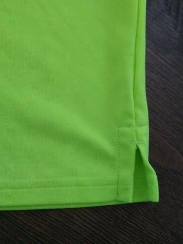 Boys Under Armour Neon Green Gear Polo Golf Shirt Size