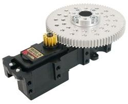 Channel Mount Servo Power Gearbox Continuous Rotation 3:1
