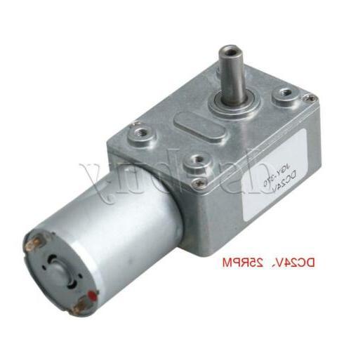 DC24V 25RPM Turbo Worm Mechanical