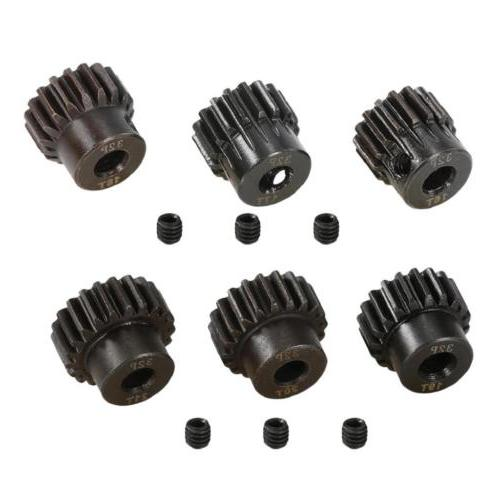 Durable 32P 5mm 16T-21T Pinion Motor Gear for 1/8 RC Brushed