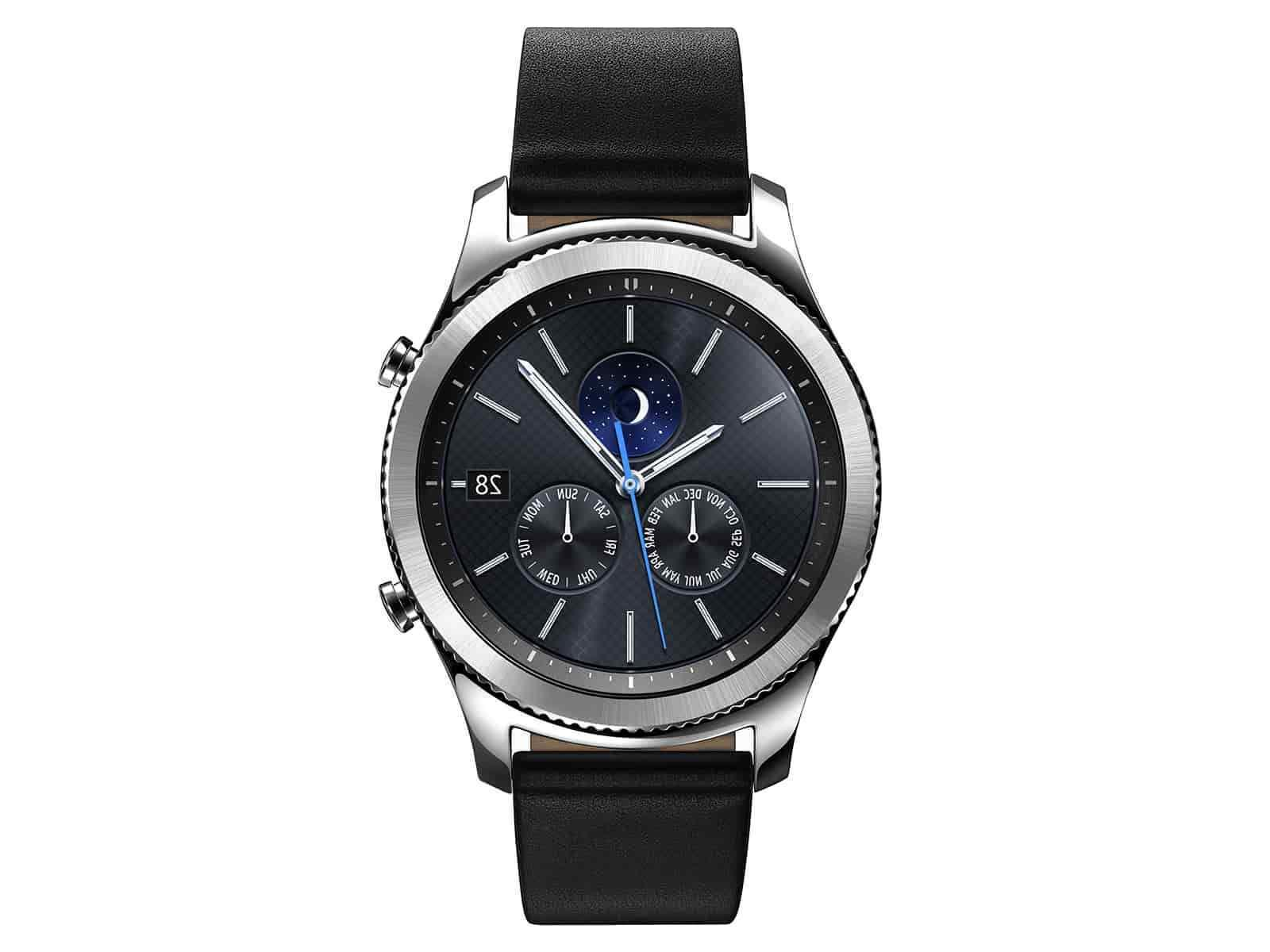Samsung Gear Classic Stainless Leather watch