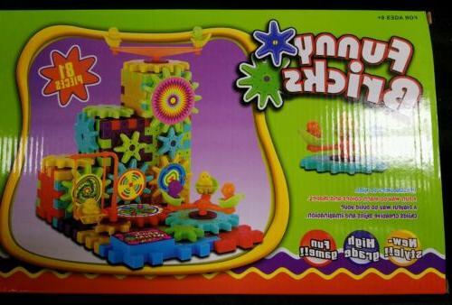 Funny Bricks Gear Building Toy Set - Interlocking Blocks 81