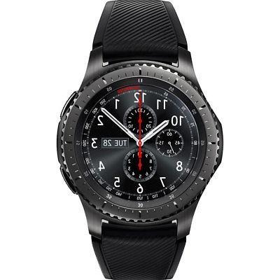gear s3 frontier dark grey bluetooth smartwatch