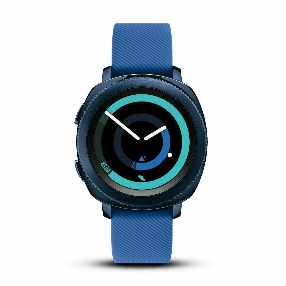 gear sport blue smart watch r600nzbaxar bluetooth