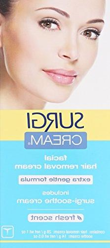 Surgi-cream Hair Remover Extra Gentle Formula For Face, 1-Ou