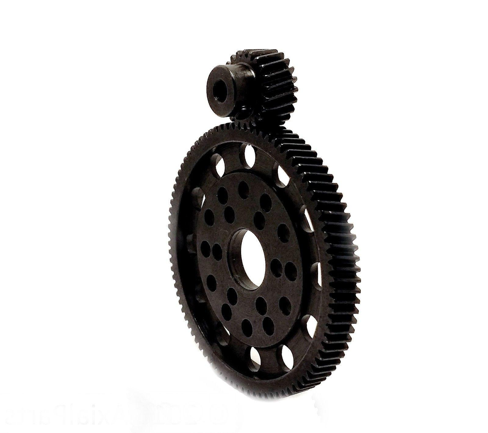 Hardened Steel 87T Metal Spur Gear 22T Pinion Wraith SCX10 E
