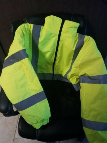 High Visibility Breathable Rain Jacket By Occunomix - Size L