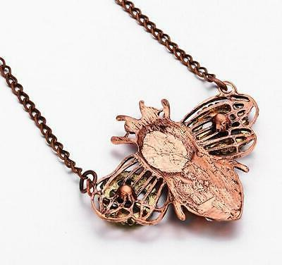 Hot Betsey Johnson heart-shaped mechanical gear insect owl necklace