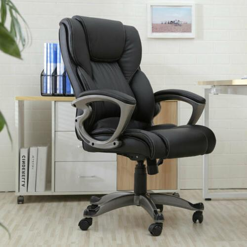 Ergonomic PU Leather Office Chair High Back Swivel Executive