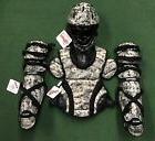 Diamond iX5 Camo Youth 9-12 Catchers Gear Set - Military Gre