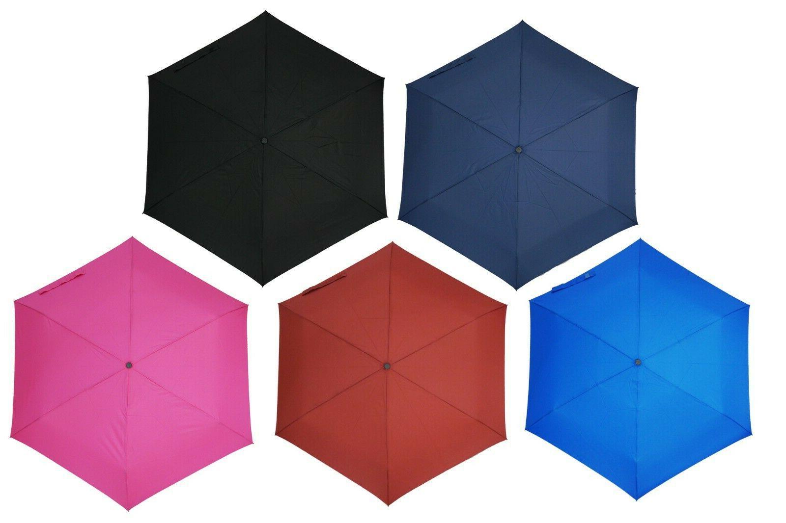 KUD Lightweight Compact travel umbrella with 50 inch Arc lar