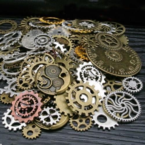 Lots Retro Steampunk Wrist Watch Parts Gears Wheels Jewelry