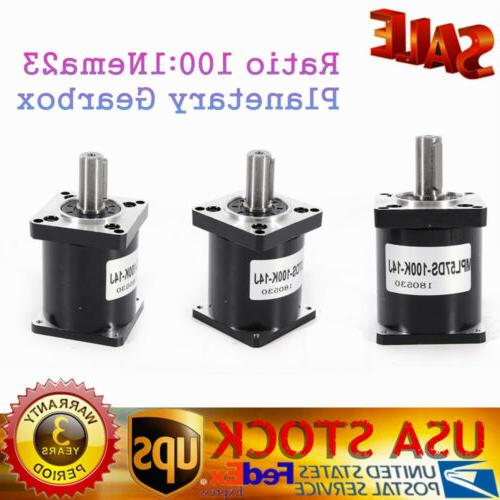 Gearmotor Ratio 10:1 Nema23 Stepper Motor L56MM 11Nm 3A Gearbox Reducer CNC