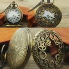 New Gifts Retro Steampunk Pocket Watch Hollow Gear Antique B