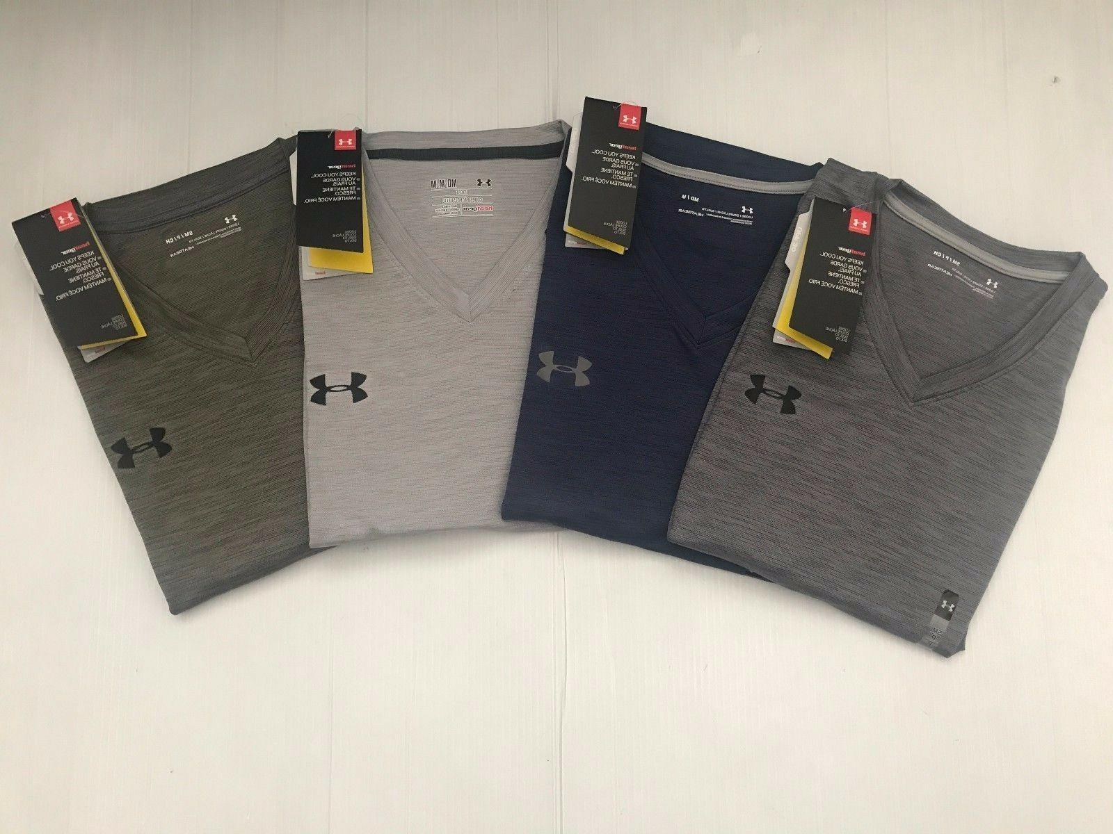 NEW UNDER ARMOUR MEN'S LOOSE HEAT GEAR VELOCITY TWIST V NECK