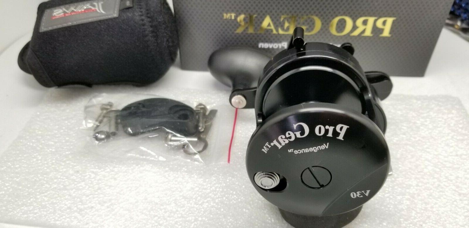 NEW PROGEAR Pro V30 Drag reel Black SHIP JAWS RH