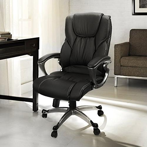 Office Chair with PU Leather Back Support Big&Tall High-Back