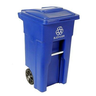 Toter Residential Heavy Duty 32 Gallon Two Wheeled Recycling
