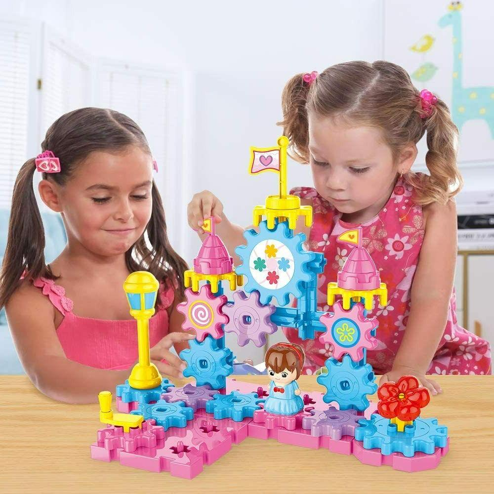 Rotating Gears Set Learning Hand Operating STEM