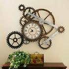 Rustic Wall Clock Gear Gears Decor Metal Art Home Vintage La