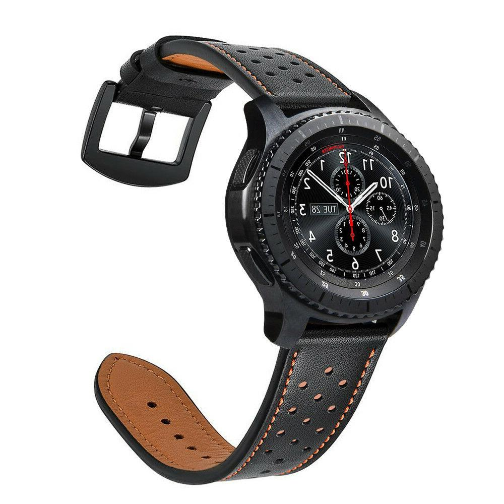 Genuine Leather Strap Wrist Bands for Gear S3 Frontier Class