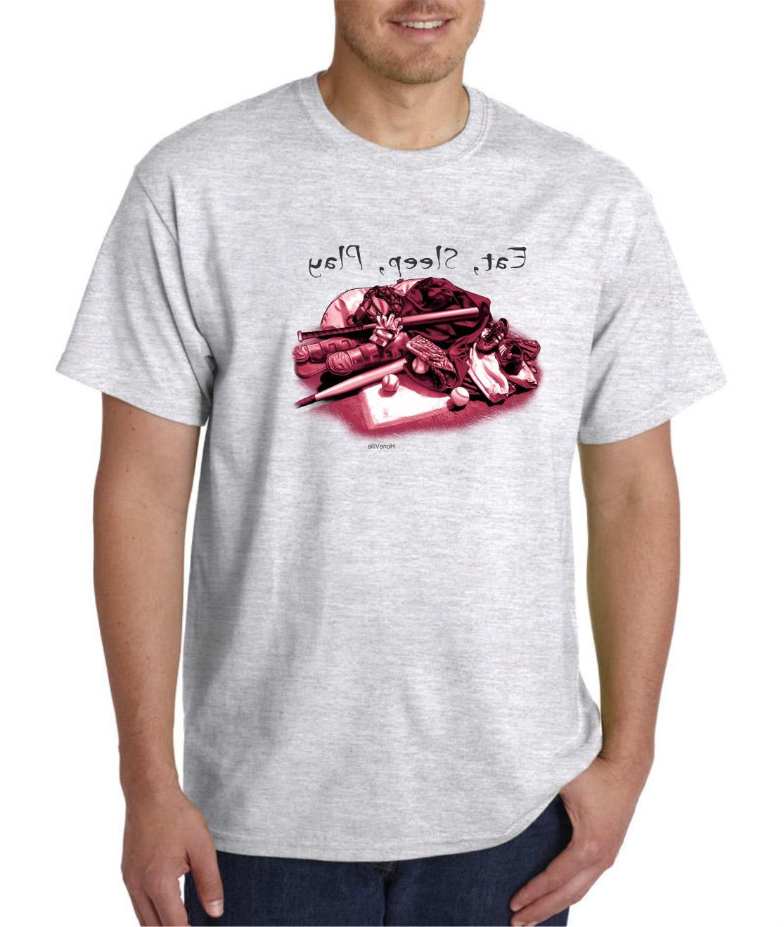 short sleeve t shirt baseball gear eat