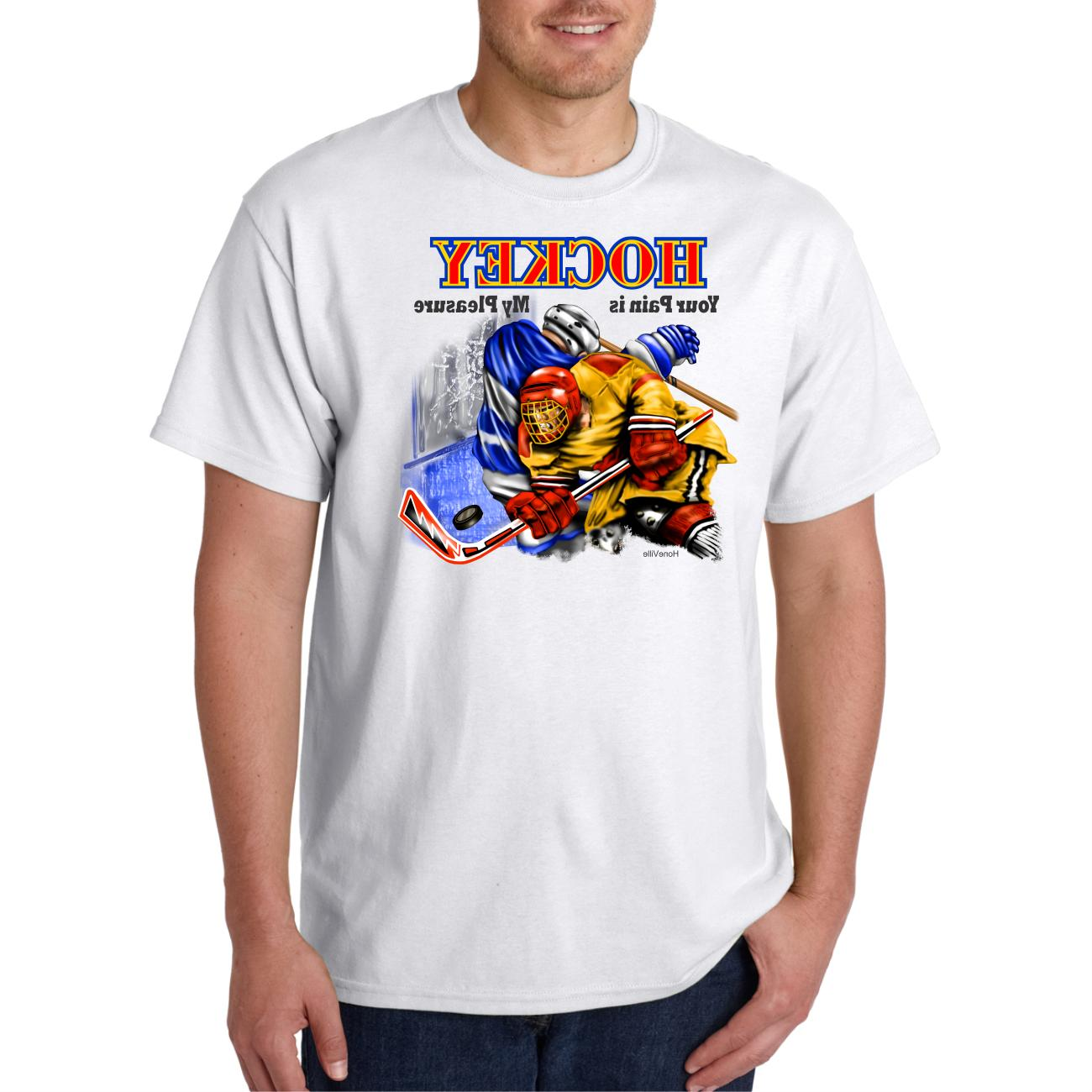 Gildan Short T-shirt Sports Hockey Your Pain