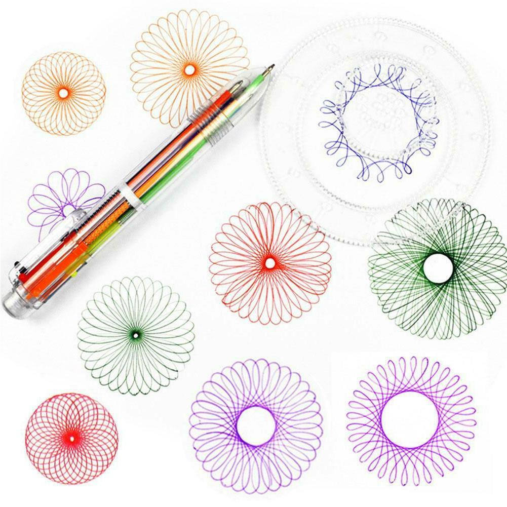 Spirograph Deluxe Set Draw Designs Toys Gears