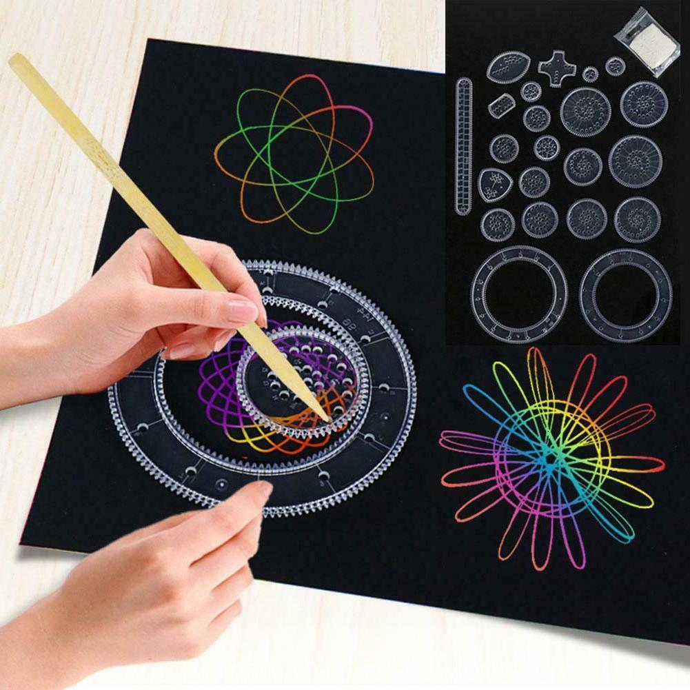 spirograph deluxe tin set draw spiral designs