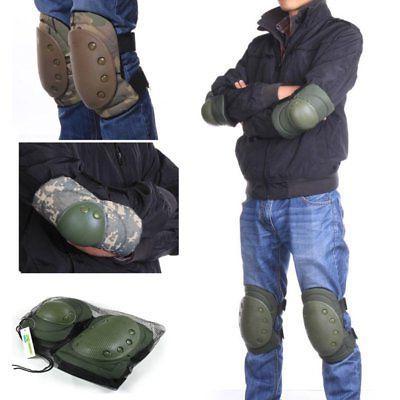 sports tactical combat protective pad set gear